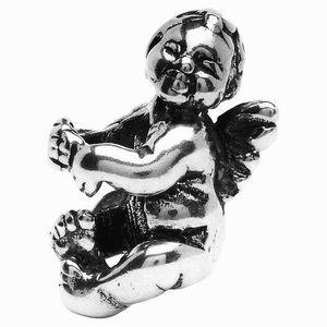 Silver cherub pandora charm